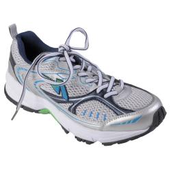 Journee Sport Women's Lightweight Lace-Up Blue Running Shoes