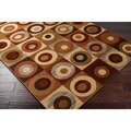 Hand-carved Artistic Weavers Multicolored Geometric Contemporary Magic Rug (5'3 x 7'3)