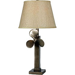 Garsed Weathered Steel Table Lamp