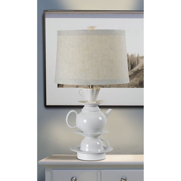 Chateau 25-inch White Finish Table Lamp