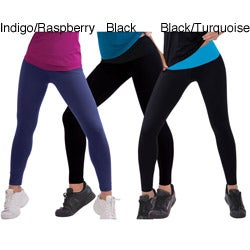 Ilusion Women's Lightweight Microfiber Work-out Leggings