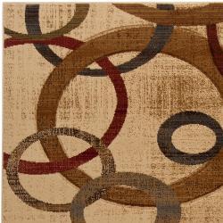 Hand-carved Artistic Weavers Multicolored Paloe Rug (2'3 x 3'3)