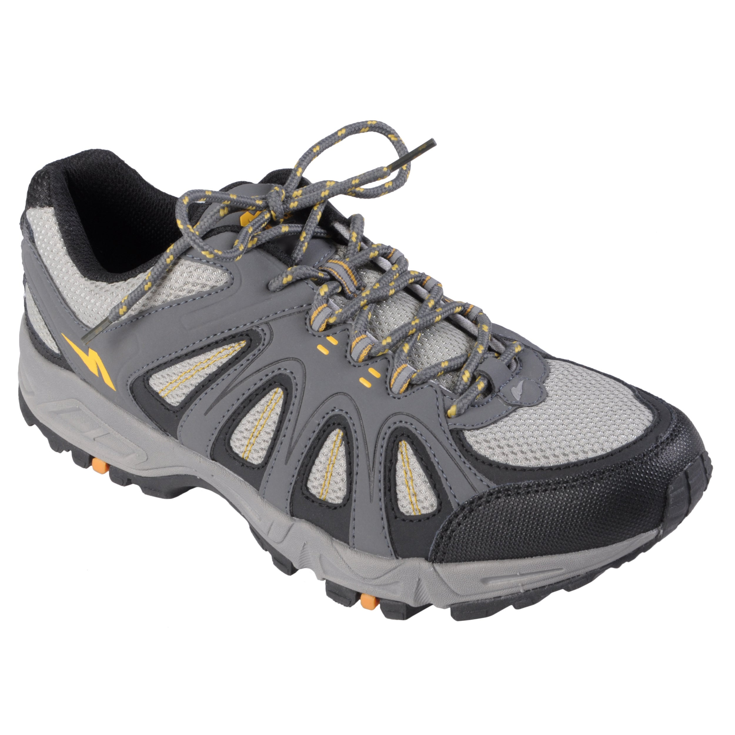 Gray Boston Traveler Men's Lightweight Lace-Up Running Shoes