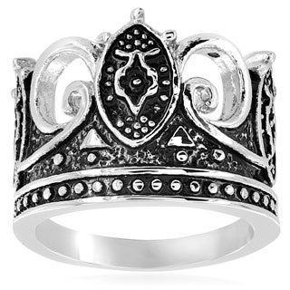 Stainless Steel Majestic Crown Ring