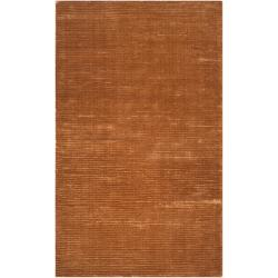 Hand-woven Solid Golden Brown Casual Parroll1005 Rug (3'3 x 5'3)