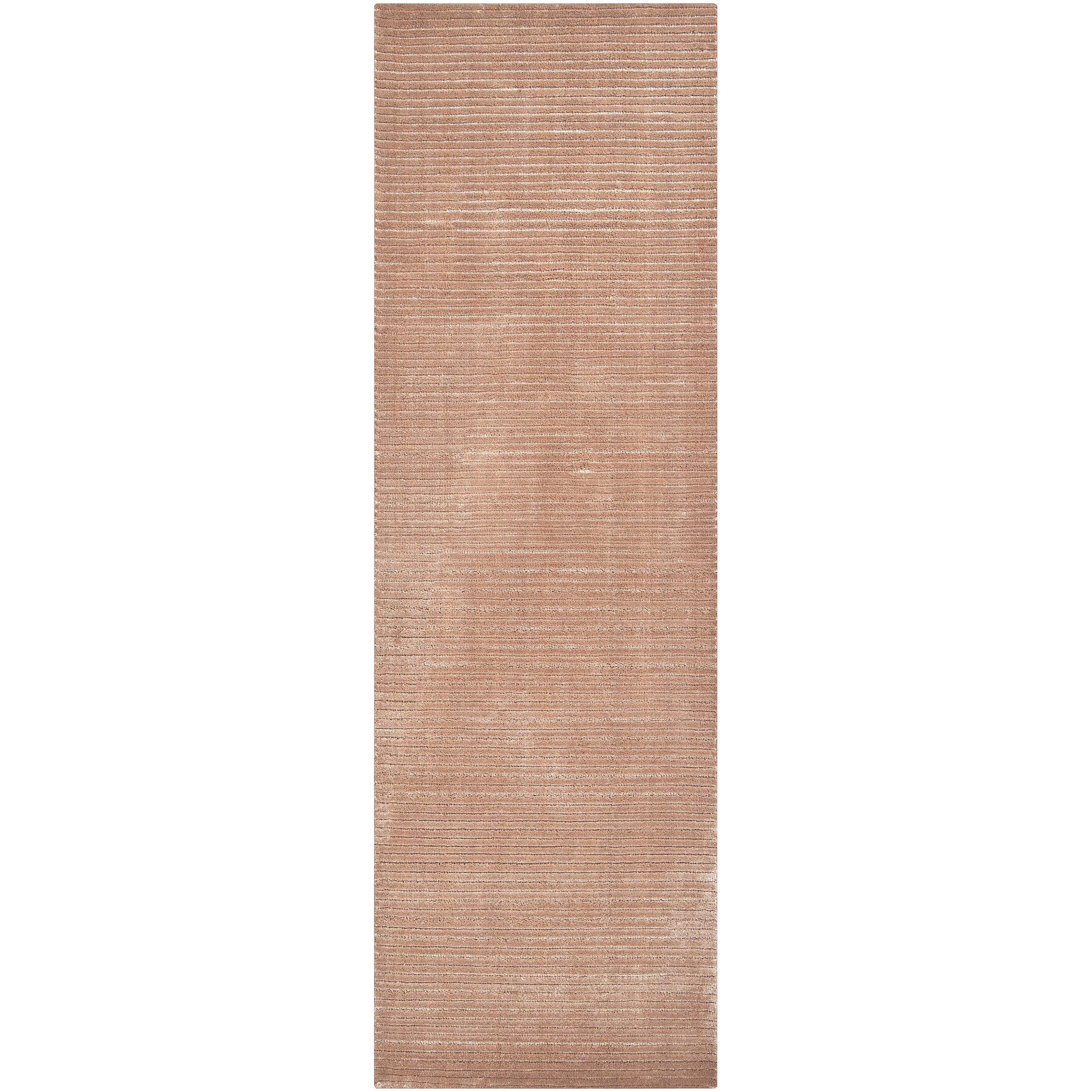 Hand-woven Solid Beige Casual Parroll1006 Rug (2'6 x 8')