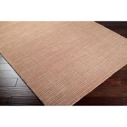Hand-woven Solid Beige Casual Parroll1006 Rug (3'3 x 5'3)
