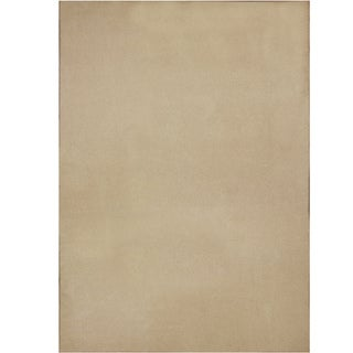 Hand-tufted Printed Solid Beige Rug