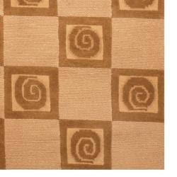 Indo Hand-knotted Tibetan Beige/ Brown Wool Rug (3'7 x 5'6)