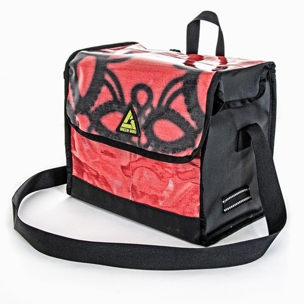Dutchy Bicycle Pannier Made of Recycled Billboards and Banners