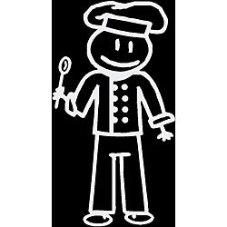 Vinyl Letter Decor 'Chef Dad' Stick Figure Car Decal