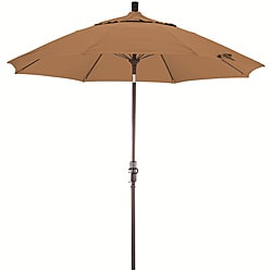 Fiberglass 9-foot Straw Olefin Crank and Tilt Umbrella