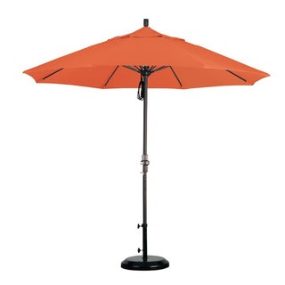 Fiberglass 9-foot Tuscan Olefin Crank and Tilt Umbrella