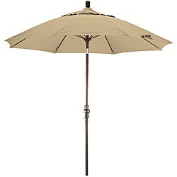 Fiberglass 9-foot Pacifica Antique Beige Crank and Tilt Umbrella
