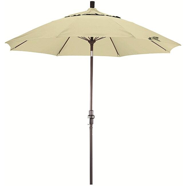 Fiberglass 9-foot Pacifica Natural White Crank and Tilt Umbrella
