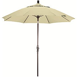 Natural White Fiberglass Olefin Crank and Tilt Umbrella