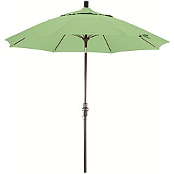 Fiberglass 9-foot Spa Green Olefin Crank and Tilt Umbrella