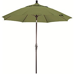 Fiberglass 9-foot Palm Green Olefin Crank and Tilt Umbrella