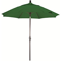 Fiberglass 9-foot Hunter Green Olefin Crank and Tilt Umbrella