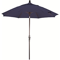 Fiberglass 9-foot Sapphire Blue Olefin Crank and Tilt Umbrella