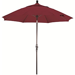 Fiberglass 9-foot Burgundy Olefin Crank and Tilt Umbrella