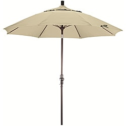 Fiberglass 9-foot Canvas Olefin Crank and Tilt Umbrella