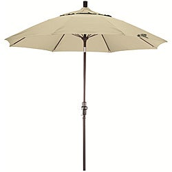 Fiberglass 9-foot Pacifica Canvas Crank and Tilt Umbrella
