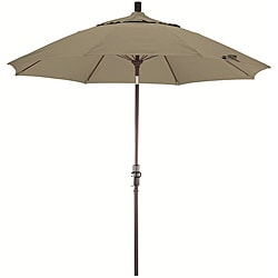 Fiberglass 9-foot Pacifica Taupe Crank and Tilt Umbrella