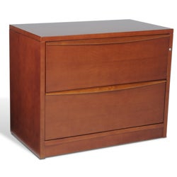 2-drawer Lateral Cherry Wood File Cabinet