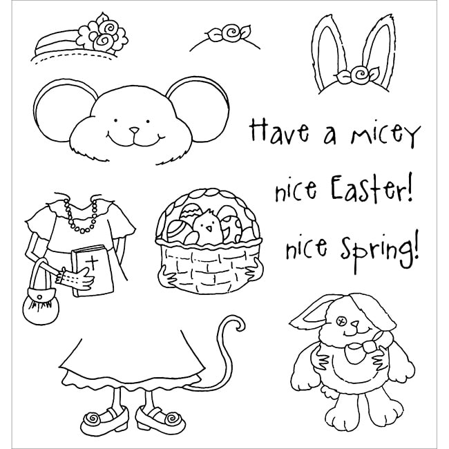 Inky Antics 'Easter Millie' Clear Stamp Set