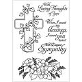 Inky Antics Floral Faith Clear Stamp Set