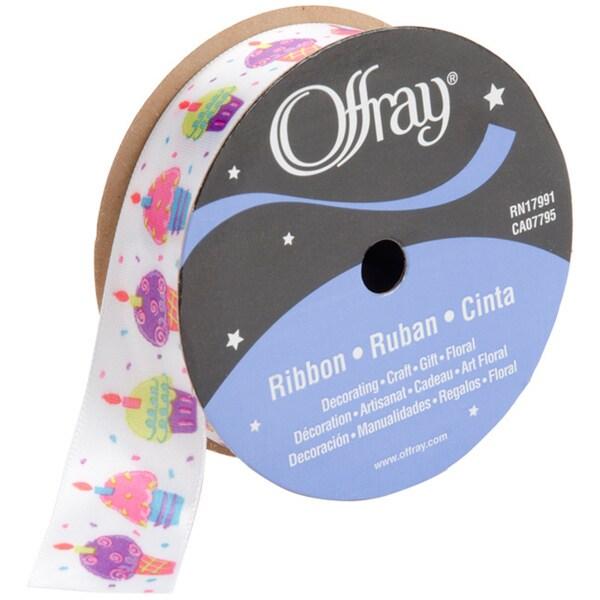 Offray 'Fun Cupcakes' 9 Foot Ribbon