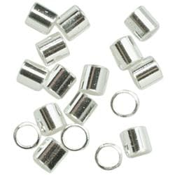 Silver Plated Metal Findings-Crimp Bead 75/Pkg