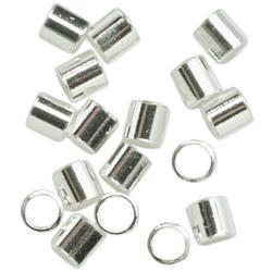 Silver Plated Metal Findings-Crimp Bead 75/Pkg