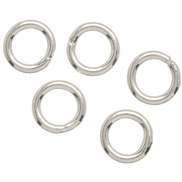 Metal Findings Silver-plated 4mm Jump Rings