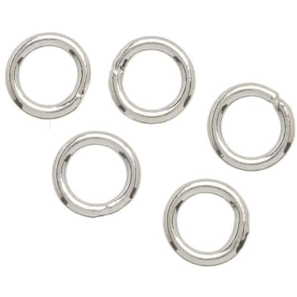 Metal Findings Silver-plated 4mm Jump Rings