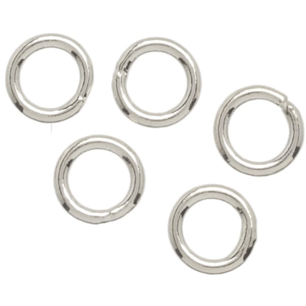Metal Findings Silver-plated 4mm Open Jump Rings (Pack of 35)