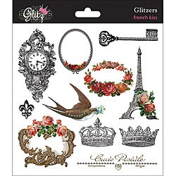 Glitz Design Glitzers 'French Kiss' Transparent Stickers