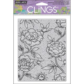Hero Arts Large Flowered Background Cling Stamp