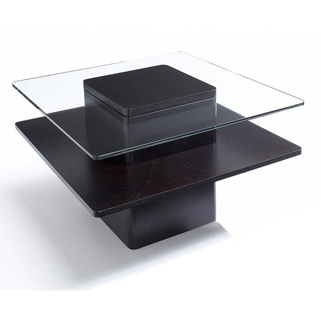 Jesper Office 30 inch Glass And Wood End Table