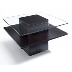Jesper Office 30-inch Glass and Wood End Table