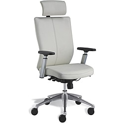 Jesper Office Modern White Leather Office Chair