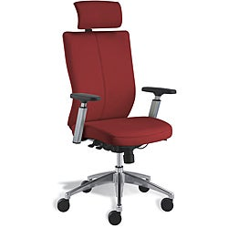 Modern Red Leather Office Chair