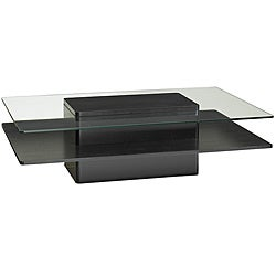 Jesper Glass/ Dark Wood Coffee Table