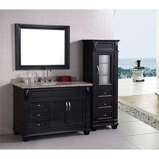 Design Element Hudson 48-inch Single Sink Bathroom Vanity Set with Linen Tower Accessory Cabinet