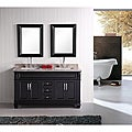 Design Element Hudson 60-inch Double Sink Bathroom Vanity Set
