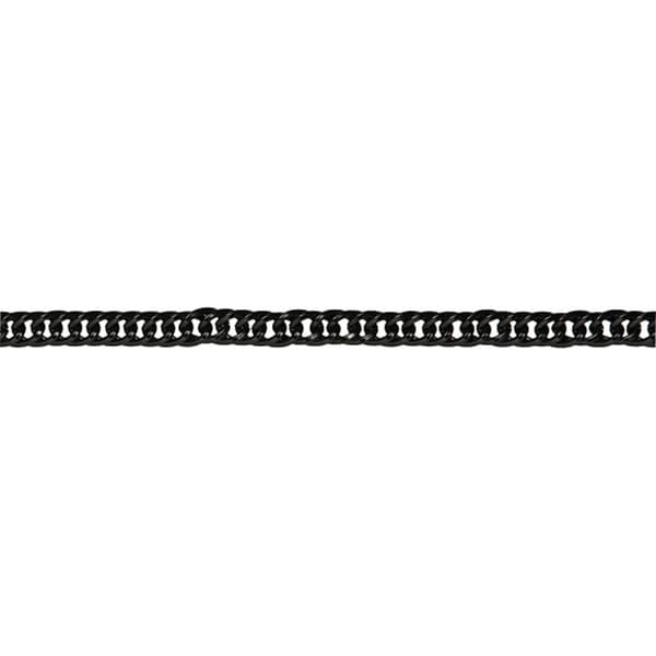 Jewelry Basics Medium Black 22-inch Flat Metal Chain