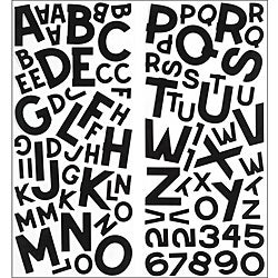 Sticko Black Block Alphabet Stickers (2 Sheets)