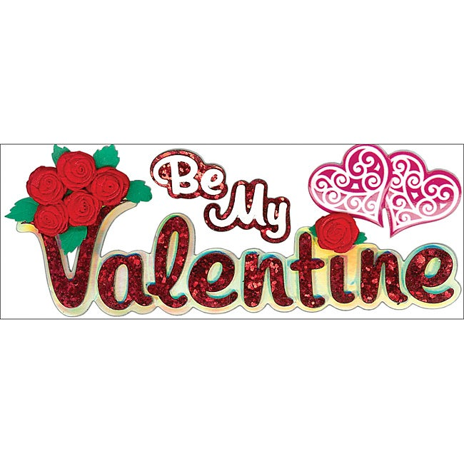 Jolee's Boutique 'Be My Valentine' Title Wave Stickers