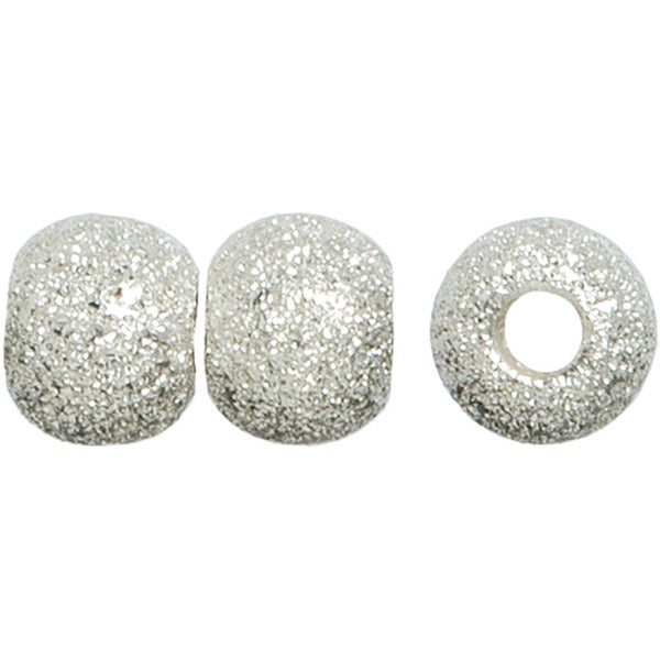 Metal Findings Silver-plated 6mm Stardust Bead (Pack of 8)